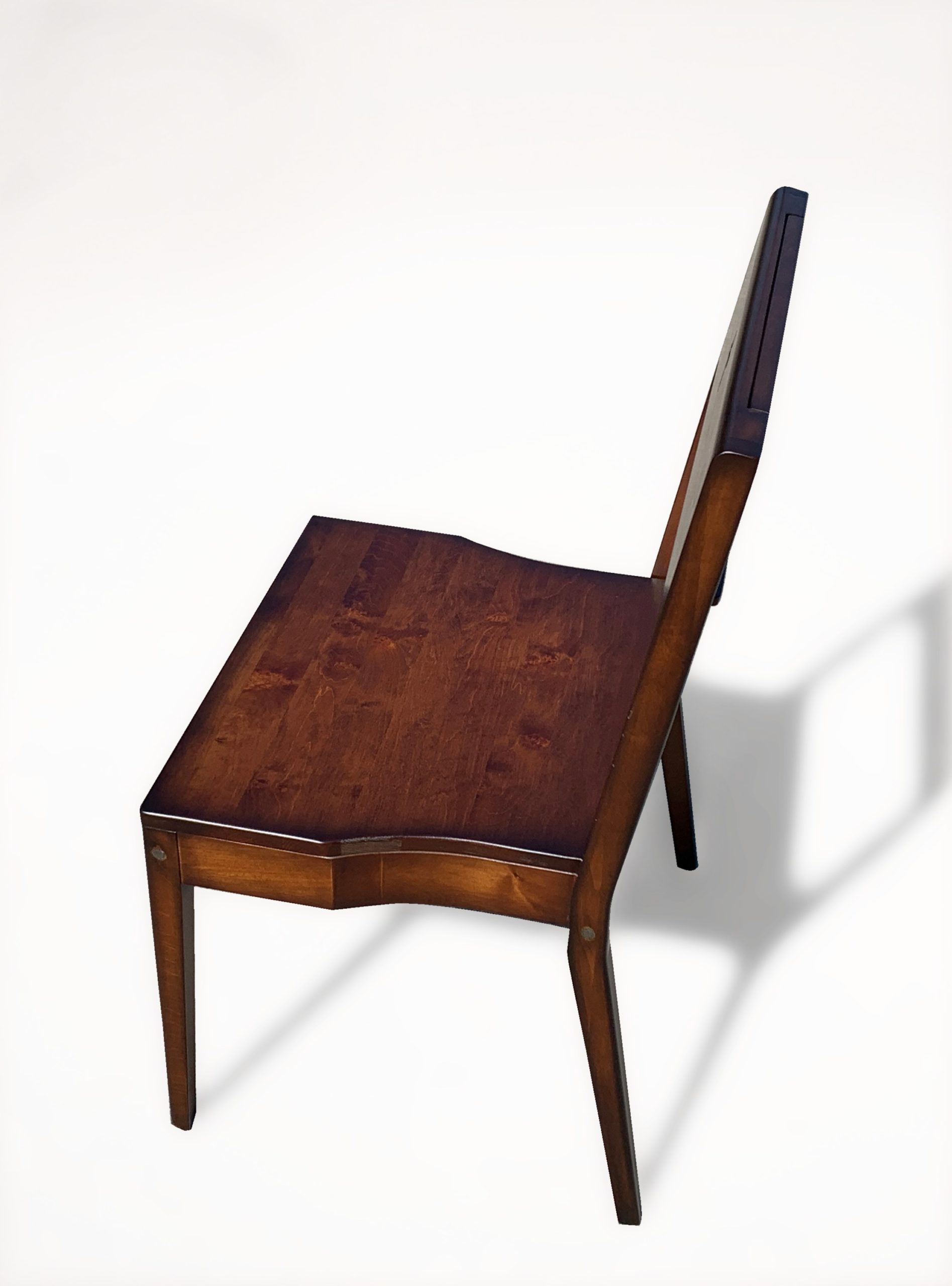 Wooden Zoe church chair made of alder wood - side view..