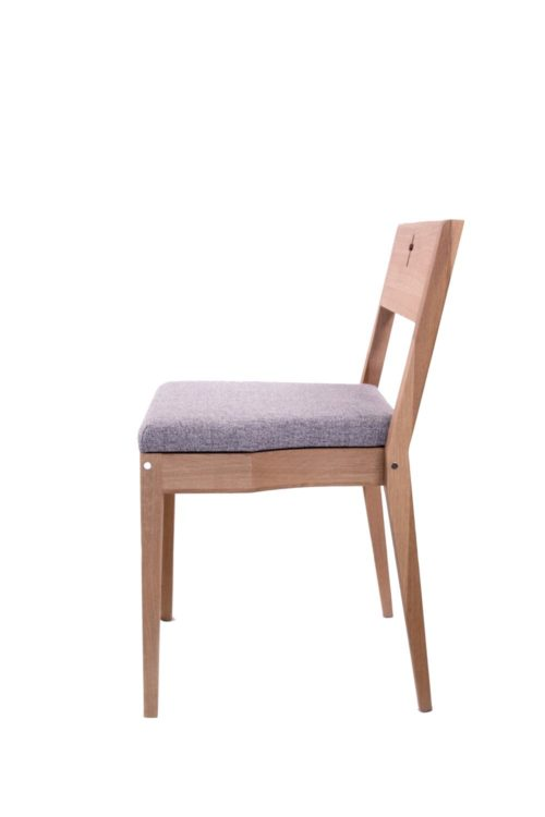 Wooden Zoe church chair sample picture with upholstery.